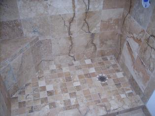 natural stone cut for shower floor